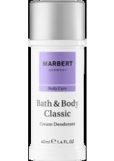 Marbert Bath & Body Classic Deodorant Cream Deodorant 40.0 ml
