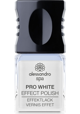 ALESSANDRO - Alessandro Nagellack Spa Pro White Nail Effect Polish Coconut Oil Enriched 10 ml - Base & Top Coat