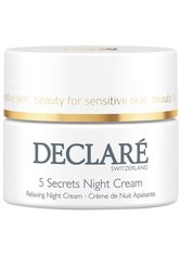 DECLARÉ - Declare Stress Balance 5 Secrets Night Cream 50 ml Nachtcreme - Nachtpflege