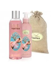 Un Air d'Antan Bath & Body Set Les Cerisiers En Fleurs, 1 Body Moisturiser 200ml + 1 Shower Gel 250ml
