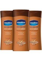 Vaseline Intensive Care Body Lotion Cocoa Radiant 3 x 400ml
