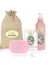 Un Air d'Antan Bath & Body Set Les Cerisiers en Fleurs, Bar Soap 100g + Body Lotion 200ml