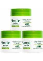 Simple Kind to Skin Vital Vitamin Night Cream for Sensitive Skin 3 x 50ml