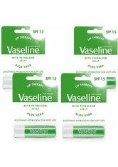 Vaseline Aloe Vera Lip Therapy Balm Sticks 4 x 4g