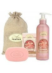 Un Air d'Antan Bath & Body Set La Vie en Rose, Bar Soap 100g + Body Lotion 200ml