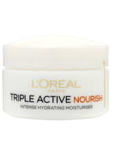 L'Oréal Paris Dermo-Expertise Triple Active Nourish Intense Hydrating Moisturiser - Dry to Very Dry Skin 50ml