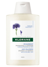 KLORANE Anti-yellowing Shampoo with Centaury for White and Grey Hair 200ml