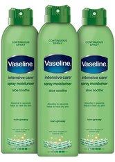 Vaseline Intensive Care Spray Moisturiser Aloe Sooth 3 x 190ml