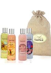 UN AIR D'ANTAN - Un Air D'Antan collection set of 4 shower gels in a jute bag 4 x 250ml - KÖRPERPFLEGESETS