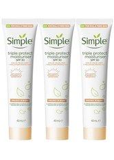 Simple SPF 30 Triple Protection Moisturiser 3 x 40ml