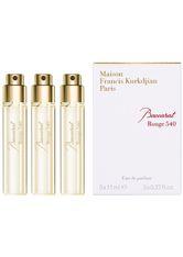 Maison Francis Kurkdjian Unisexdüfte Baccarat Rouge 540 Eau de Parfum Globe Trotter Refill 3 x 11 ml