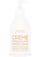 La Compagnie de Provence Crème Hydratante Corps et Mains Agrumes Pétillants Bodylotion 300 ml