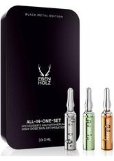 Ebenholz skincare Herrenpflege Gesichtspflege All-In-One-Set 3 x 2 ml