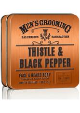 Scottish Fine Soaps Thistle & Black Pepper Face & Beard Soap 100 g