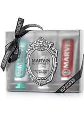 Marvis Pflege Zahnpflege Geschenkset Classic Strong Mint 25 ml + Whitening Mint 25 ml + Cinnamon Mint 25 ml 1 Stk.