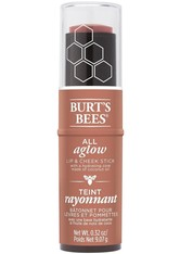 Burt's Bees 100% Natural All Aglow Lip & Cheek Stick 8.5g (Various Shades) - Peach Pond