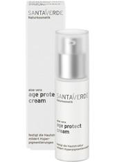 Santaverde Gesichtspflege Aloe Vera Blüte Age Protect Creme Gesichtscreme 30.0 ml