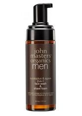JOHN MASTERS ORGANICS - John Masters Organics Men Eucalyptus & Agave 2-in-1 Face Wash & Shave Foam -  177 ml - REINIGUNG