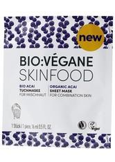 Bio:Végane Skinfood Bio Acai Tuchmaske für Mischhaut 1 Stck / 16 ml