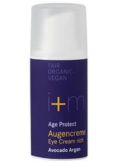 I+M NATURKOSMETIK - I + M Naturkosmetik Age Protect Augencreme Avocado Argan 15 ml - AUGENCREME