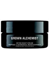 GROWN ALCHEMIST - Grown Alchemist Pflege Grown Alchemist Pflege Detox Night Cream - Peptide-2 Echinacea, Reishi Extract Gesichtscreme 40.0 ml - Nachtpflege