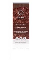 Khadi Naturkosmetik Produkte Pflanzenhaarfarben - Mittelbraun 100g Pflanzenhaarfarbe 100.0 g