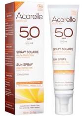 Acorelle Produkte nature sun LSF50 Sonnenspray sensitiv 100ml Sonnencreme 100.0 ml