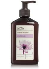 AHAVA - Ahava Körperpflege Deadsea Water Lotusblüte & Kastanie Mineral Botanic Velvet Body Lotion 400 ml - Körpercreme & Öle