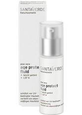 Santaverde Gesichtspflege Aloe Vera Blüte Age Protect Fluid Gesichtsfluid 30.0 ml