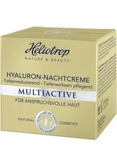 HELIOTROP - Heliotrop MULTIACTIVE Heliotrop MULTIACTIVE Hyaluron-Nachtcreme Gesichtscreme 50.0 ml - Nachtpflege