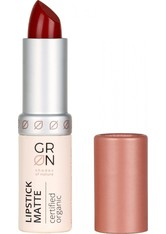 GRN Lipstick Matte poppy flower 4 Gramm - Lippenstift
