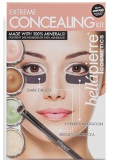 Bellápierre Cosmetics Make-up Sets Extreme Concealing Kit Dark Circle Illuminator 8,5 g + Green Camouflage Cream 8,5 g + Contour Cream 8,5 g + Banana Setting Powder 2 g + Concealer Brush 1 St