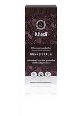 Khadi Naturkosmetik Produkte Pflanzenhaarfarben - Dunkelbraun 100g Haarfarbe 100.0 g