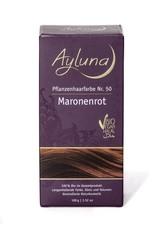 Ayluna Naturkosmetik Produkte Haarfarbe - Nr.50 Maronenrot 100g Haarfarbe 100.0 g