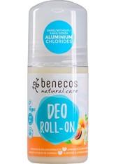 benecos Natural Deo Roll-On Aprikose & Holunderblüte 50 ml - Deodorant