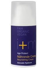 I + M Naturkosmetik Age Protect Nährende Creme Avocado Hyaluron 30 ml