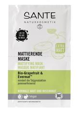 SANTE - Sante Bio-Grapefruit & Evermat Mattierend Gesichtsmaske 8 ml - MASKEN