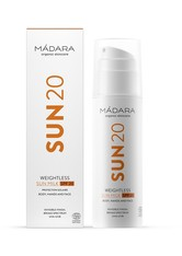 MÁDARA Organic Skincare Weightless Sun Milk SPF20 150 ml Sonnenlotion