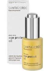 SANTAVERDE - Santaverde Aloe Vera Age Protect Öl 30 ml - Tages- und Nachtpflege - GESICHTSÖL