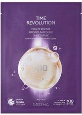 Missha Reinigung Night Repair Probio Ampoule Sheet Mask Anti-Akne Pflege 25.0 ml
