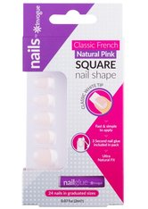 INVOGUE Produkte Invogue - French Pink Nails - Square Nageldesign 1.0 pieces