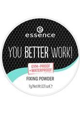 ESSENCE - Essence You Better Work! Essence You Better Work! Fixing Powder Puder 9.0 g - Gesichtspuder