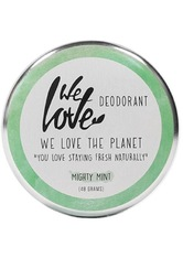 WE LOVE THE PLANET - We Love The Planet Natürliche Deo Creme - Mighty Mint 48 Gramm - ROLL-ON DEO