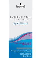 SCHWARZKOPF - Schwarzkopf Natural Styling Hydrowave Glamour Wave Set 1 - für normales bis leicht poröses Haar, 1 Portions-Set - LEAVE-IN PFLEGE
