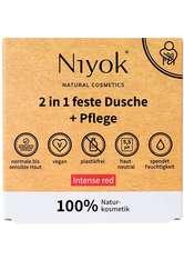 Niyok Produkte 2in1 feste Dusche+Pflege - Intense red 80g Duschgel 80.0 g