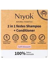 Niyok Produkte 2in1 festes Shampoo+Conditioner - Soft blossom 80g Haarshampoo 80.0 g