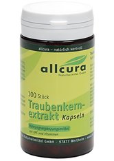 allcura Naturheilmittel Produkte Traubenkernextrakt Kapseln Nahrungsergänzungsmittel 100.0 pieces