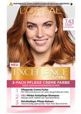 L'Oréal Paris Excellence Crème 7.43 Kupfer Goldblond Coloration 1 Stk. Haarfarbe