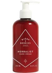 BJÖRK & BERRIES - Björk & Berries Produkte Herbalist Hand Cream Handcreme 250.0 ml - HÄNDE