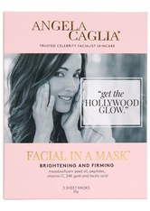 ANGELA CAGLIA - Angela Caglia - Facial In A Mask, 3 X 25 Ml – Gesichtsmasken - one size - TUCHMASKEN